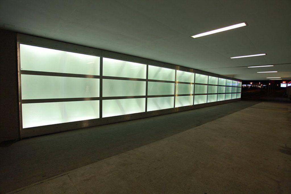 LED Lichtglaswand